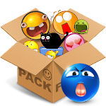 Emoticons pack, Blue