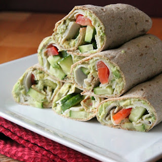 Turkey Wrap with Chipotle Avocado Spread.