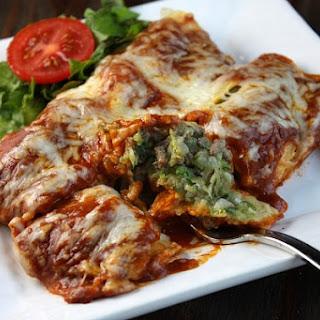 Zucchini- Beef Enchiladas