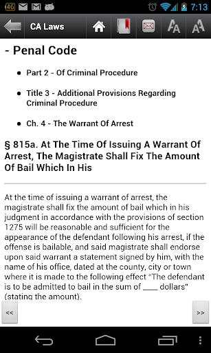CA Laws 2018 (California Laws and Codes)  screenshots 4