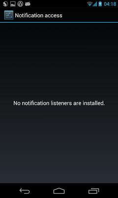 Notification Listener Settings - screenshot