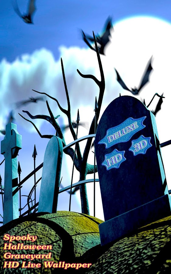 Spooky Halloween Graveyard 3D- screenshot
