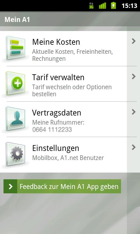 Mein A1 - screenshot