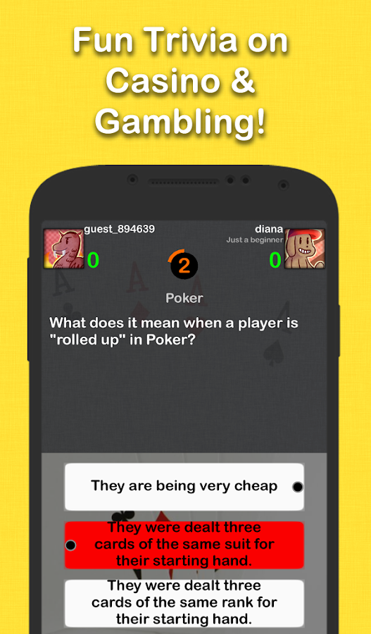 Gambling trivia game