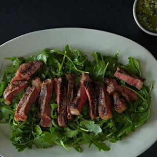 Grilled Steak Salad with Italian Salsa Verde.