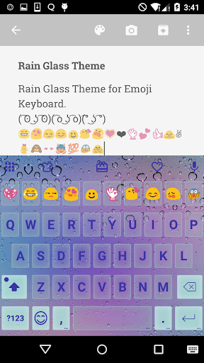 Rain Glass Love Emoji Keyboard