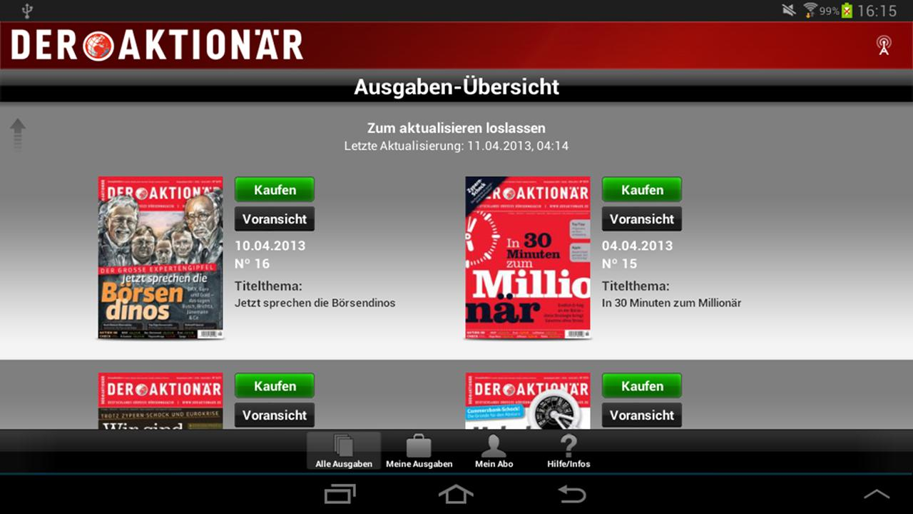 DER AKTIONÄR - Börsenmagazin- screenshot
