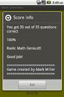 Screenshot of MathQs