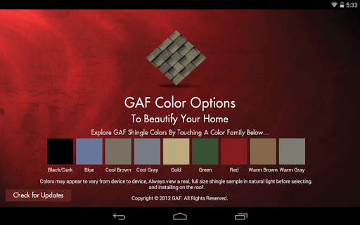 GAF Colors
