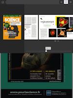 Screenshot of Pour la Science