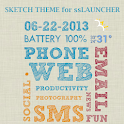 Sketch Theme for ssLauncher OR icon