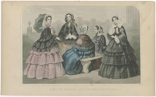 Godey's Ladies Book 1855 : Godey's unrivalled colored fashions