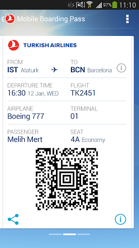 Turkish Airlines screenshot