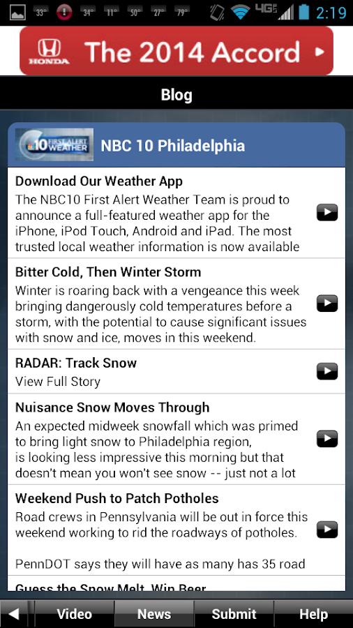 NBC10 Weather - screenshot