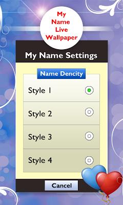 My Name Live Wallpaper - screenshot