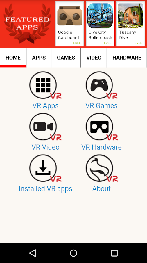 DODOcase VR App Store (beta) - screenshot