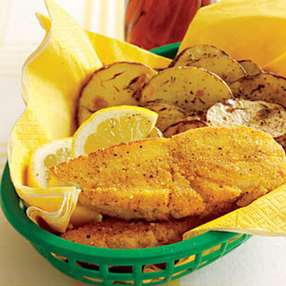 Oven-Fried Fish and Chips.