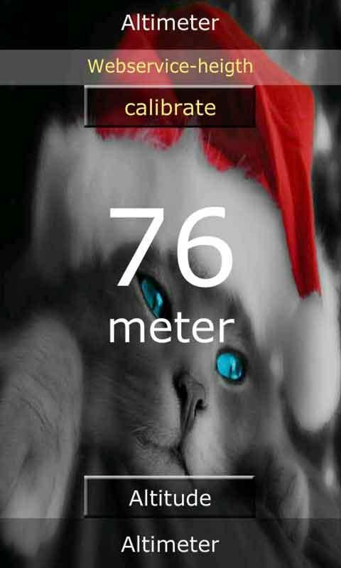 Android Altimeter - screenshot