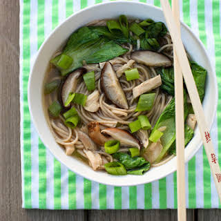 Mushroom, Chicken and Soba Noodle Soup.