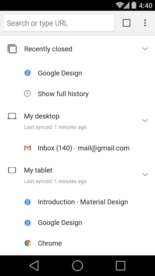 Navegador Chrome: Google- screenshot