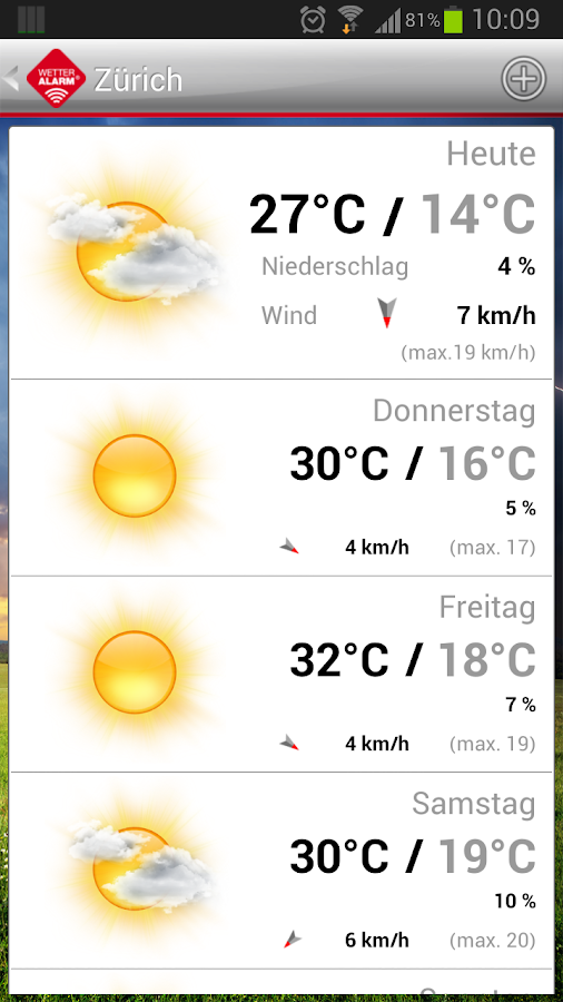 Wetter-Alarm® - screenshot