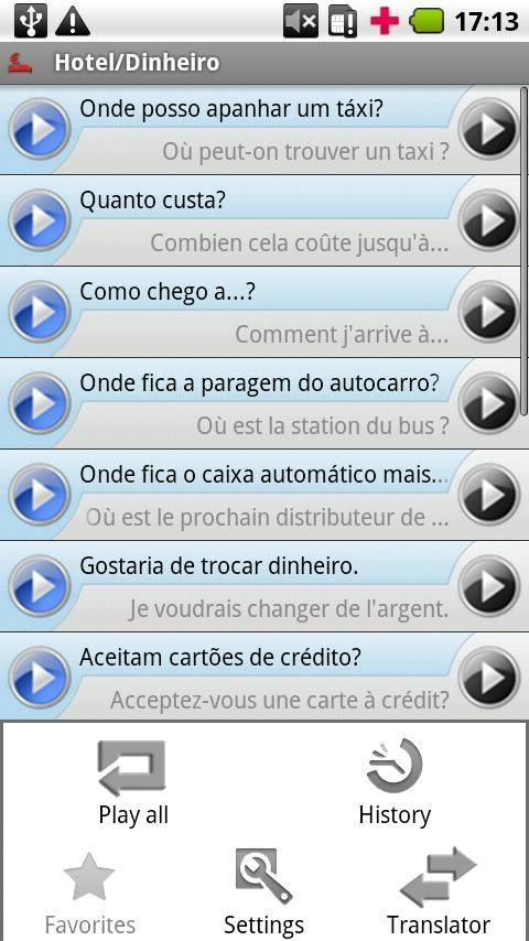 iSayHello Portuguese  - French- screenshot