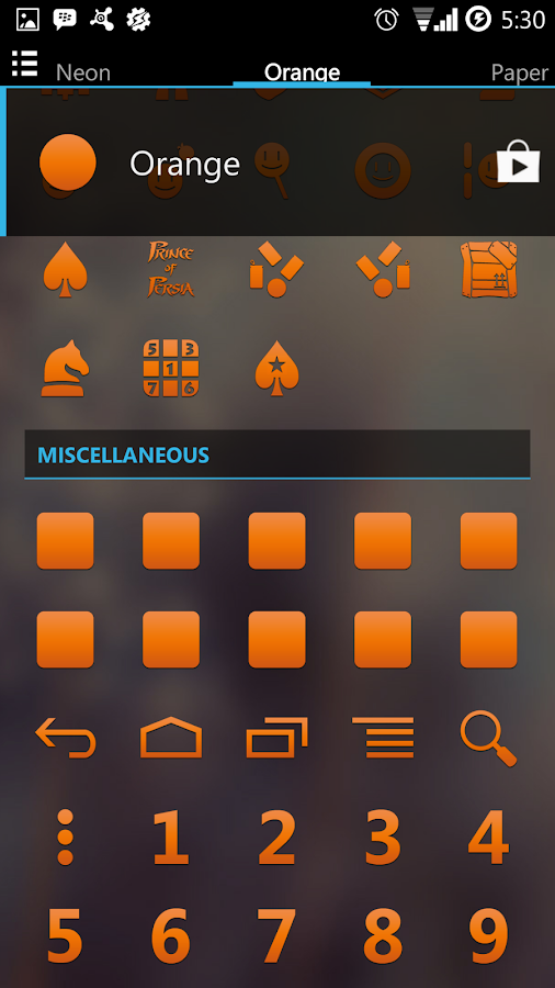 Orange Go Apex Nova Icon Theme- screenshot