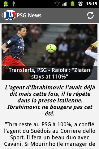 PSG Foot News - screenshot