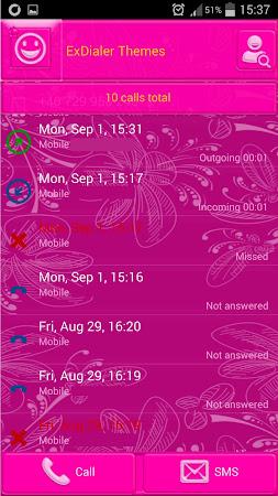 Pink Glow Dialer Theme 1.9.5 screenshot 1166855