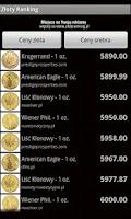 Screenshot of Ceny złota i srebra w sklepach