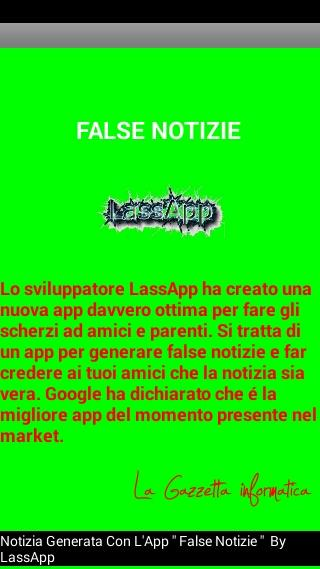 False Notizie - Scherzo Fake- screenshot