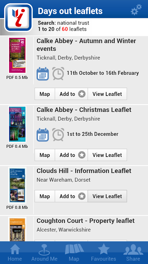 Days Out Leaflets- screenshot