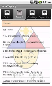 Learn Tagalog screenshot 1
