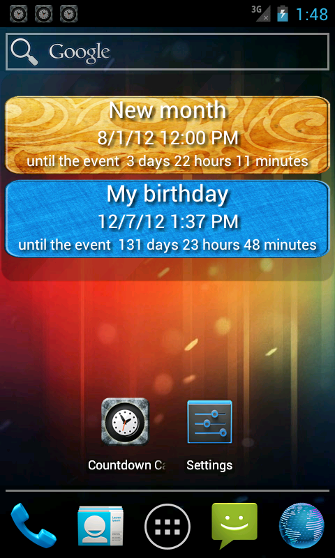 Countdown calendar.- screenshot