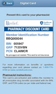 RxRelief Card Mobile - screenshot thumbnail