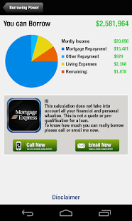 Mortgage Express - Calculators- screenshot thumbnail