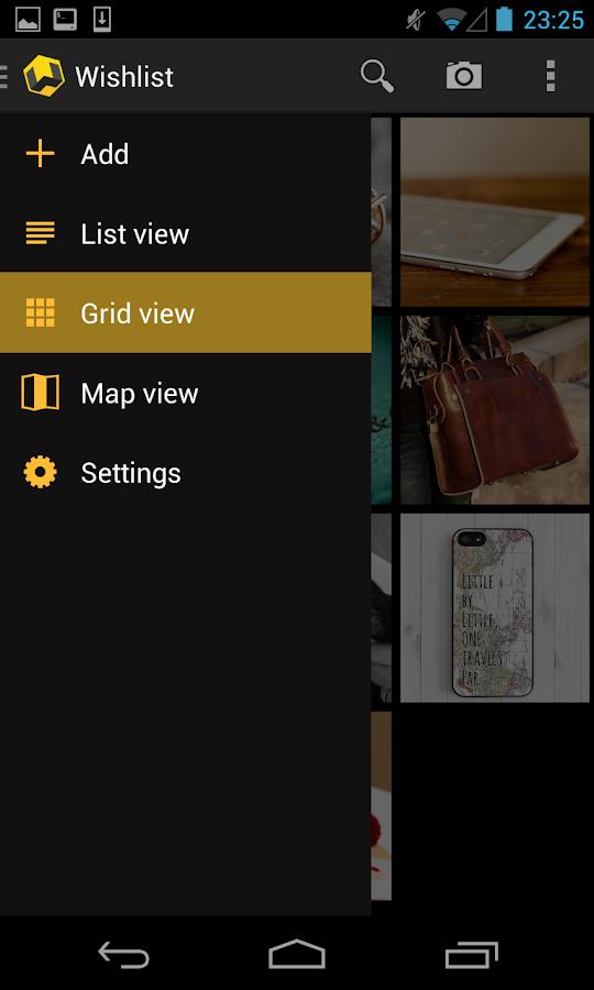 Wishlist - screenshot