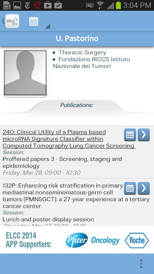 European Lung Cancer 2014 - screenshot