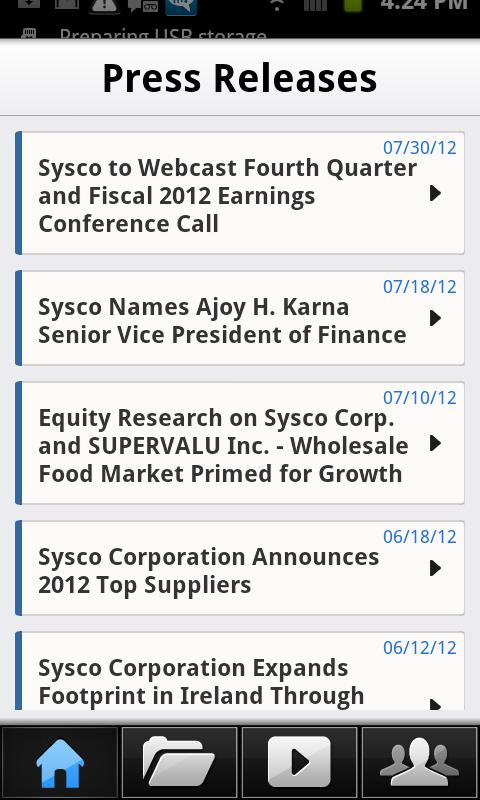 Sysco IR - screenshot
