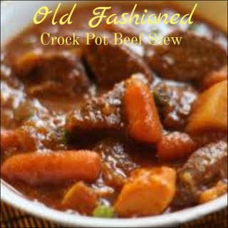 Crock Pot Old Fashioned Beef Stew.
