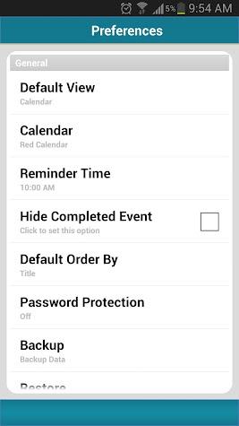 Business Calendar Event TODO Screenshot