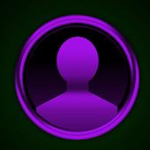 GO SMS Purple Platinum Theme