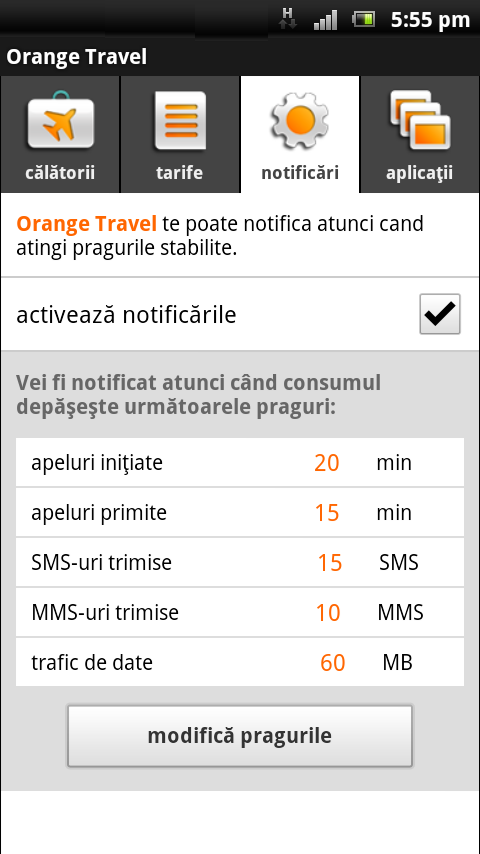Orange Travel - screenshot