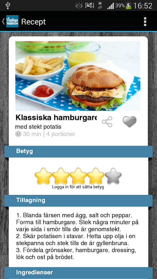 Vardagsmaten - screenshot