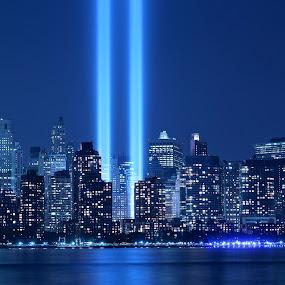 Light Tribute by Ronald Susaya - Uncategorized All Uncategorized ( wtc, new york city, light,  )