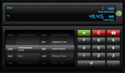 Currency Converter for Tablets- screenshot thumbnail