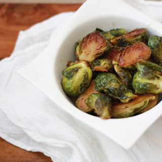 Roasted Maple Dijon Brussels Sprouts.