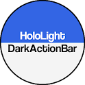 Dark ActionBar Navy CM Theme icon