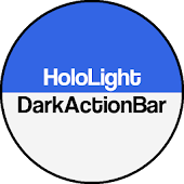 Dark ActionBar Navy CM Theme
