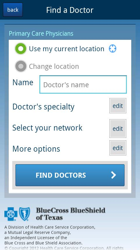 Find Doctors - Texas - screenshot